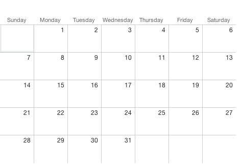 Printable 5 Day Monthly Calendar Calendarsquick Calendar