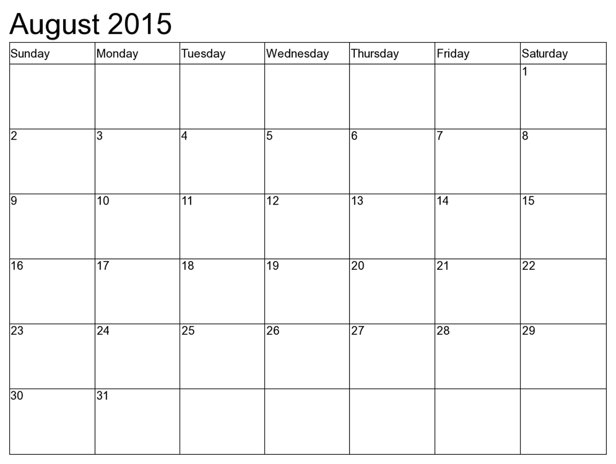 Printable Calendar Grid Commonpenceco
