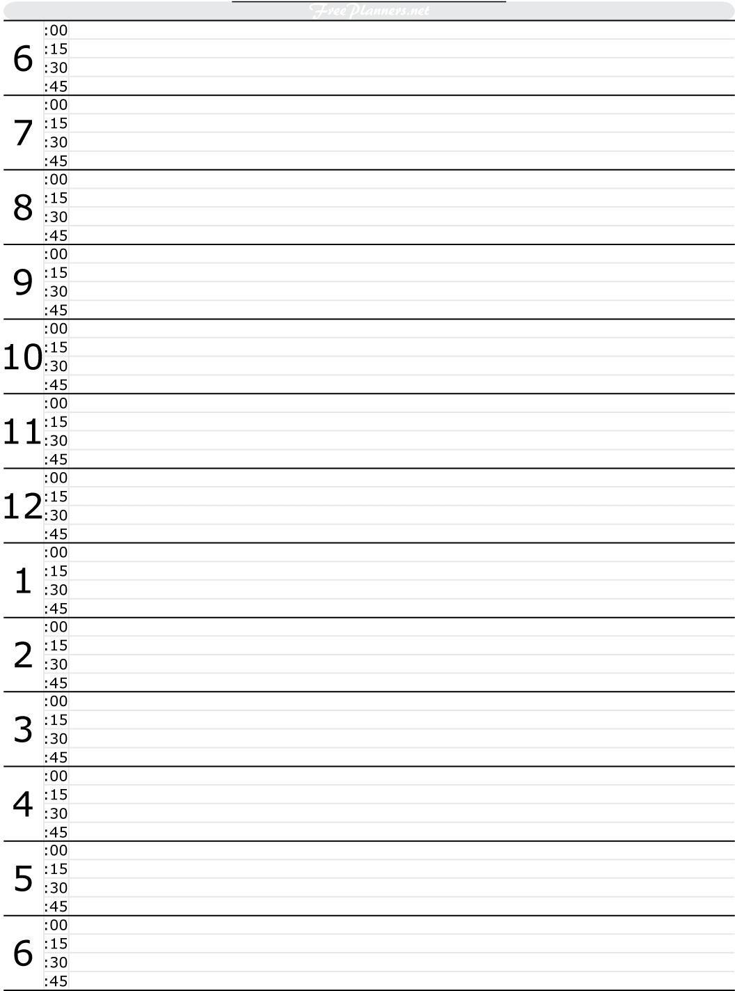 Printable Daily Calendar Hour Fieldstationco  Xjb