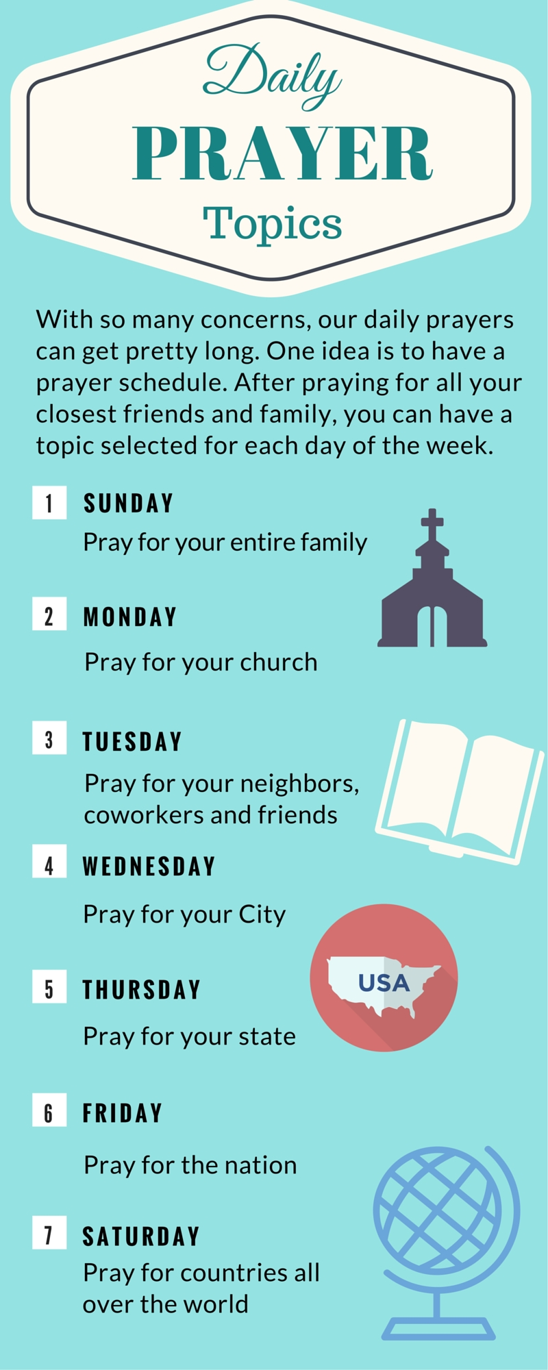 Printable Daily Prayer Topics With So Many Concerns Our Daily  Xjb
