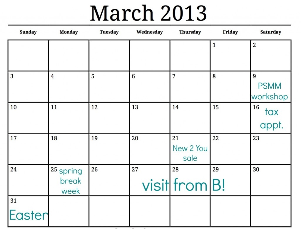 Spring Cleaning Calendar Just For You Making Lemonade  Xjb
