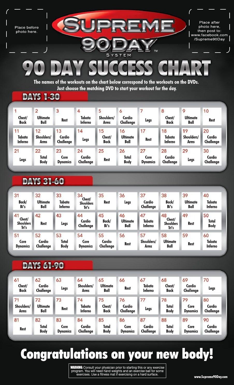 Supreme 90 Day Workout Calendar Best Calendar 2018 Template3abry