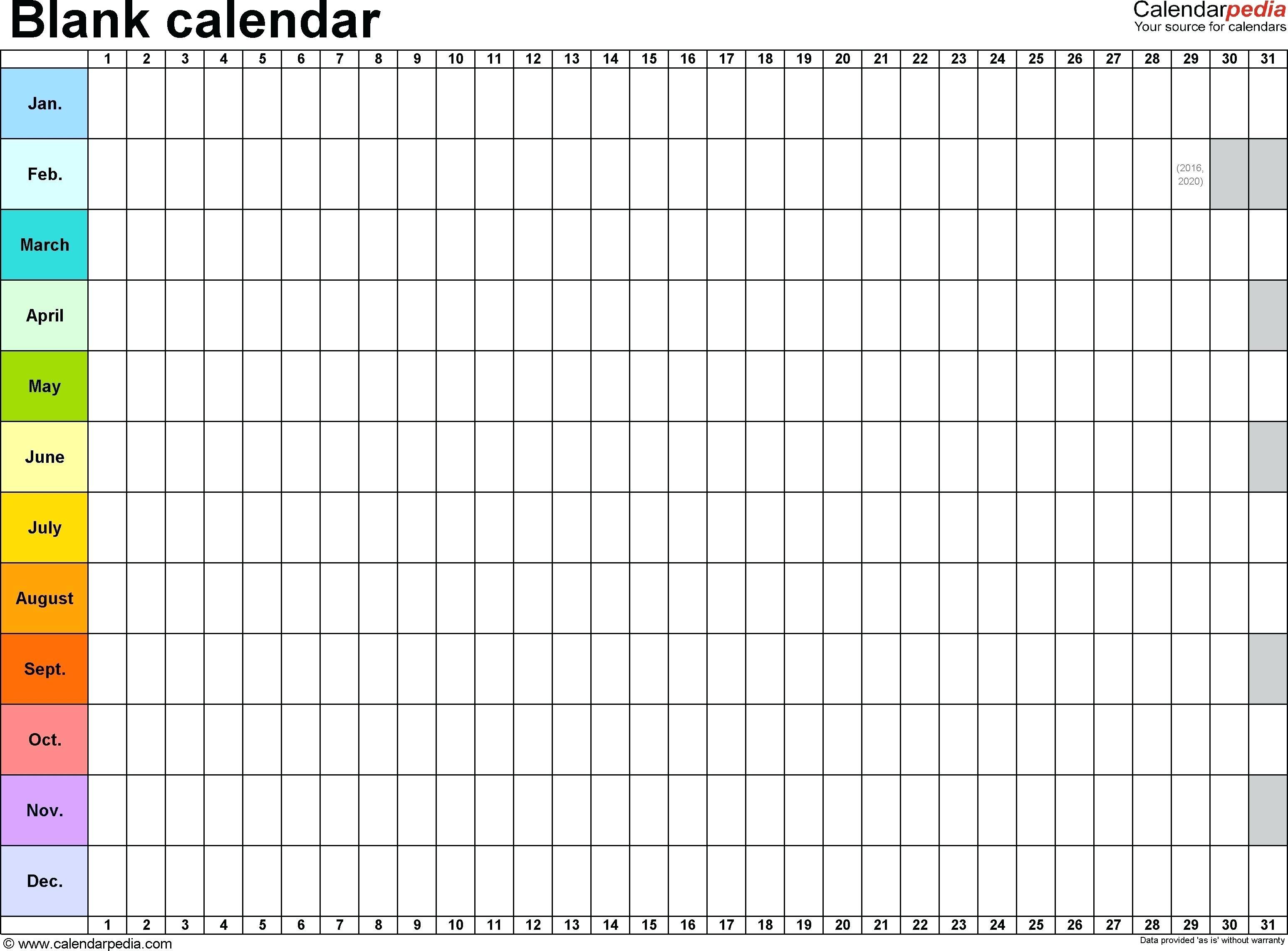 Template Large Calendar Template 89uj