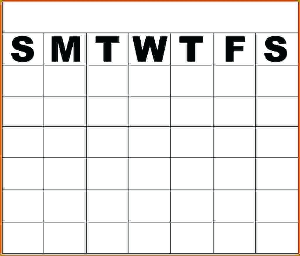 Template Monday Friday Calendar Template