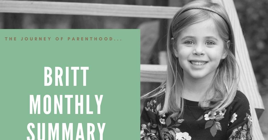 The Journey Of Parenthood Britt Monthly Summary October 2017
