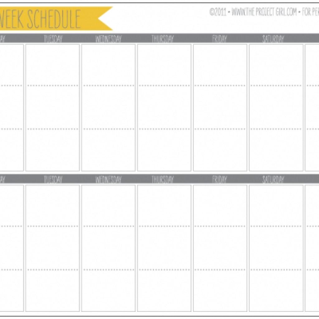Two Week Calendar Template 2 Planner Printable Tip Junkie Gallery3abry