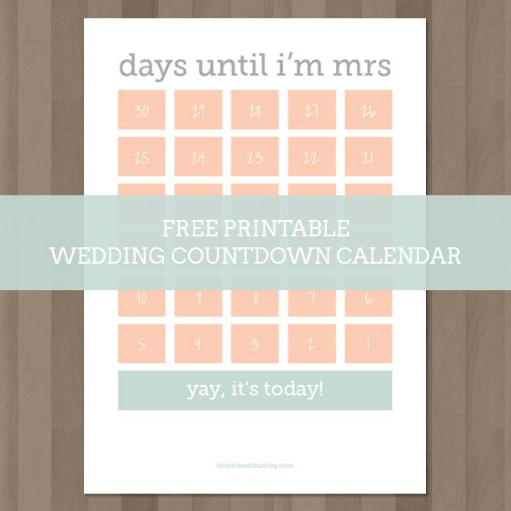 Wedding Calendar Printable Printable Calendar Templates 2018