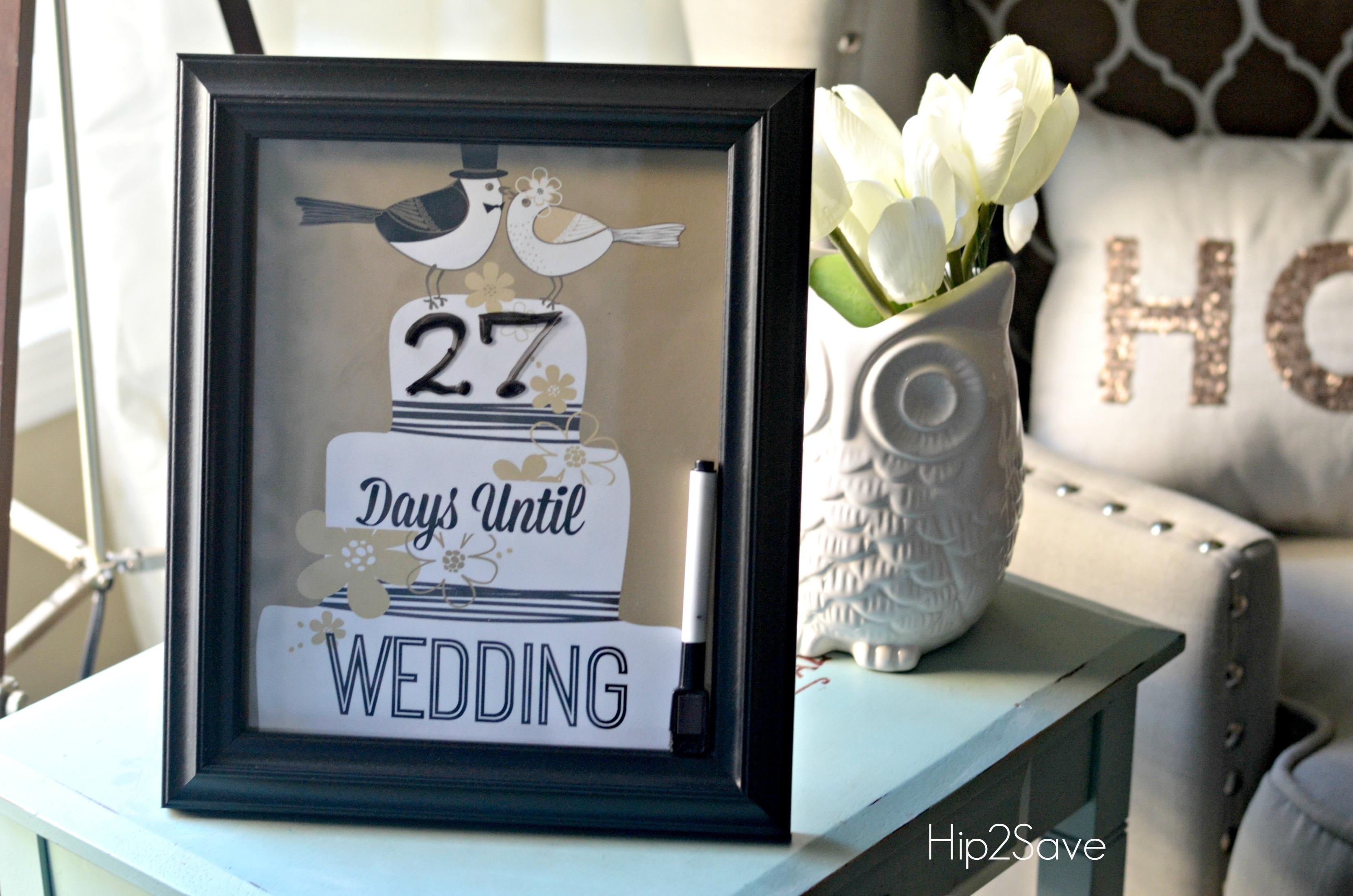 Wedding Countdown Calendar Printable Printable Calendar  Xjb