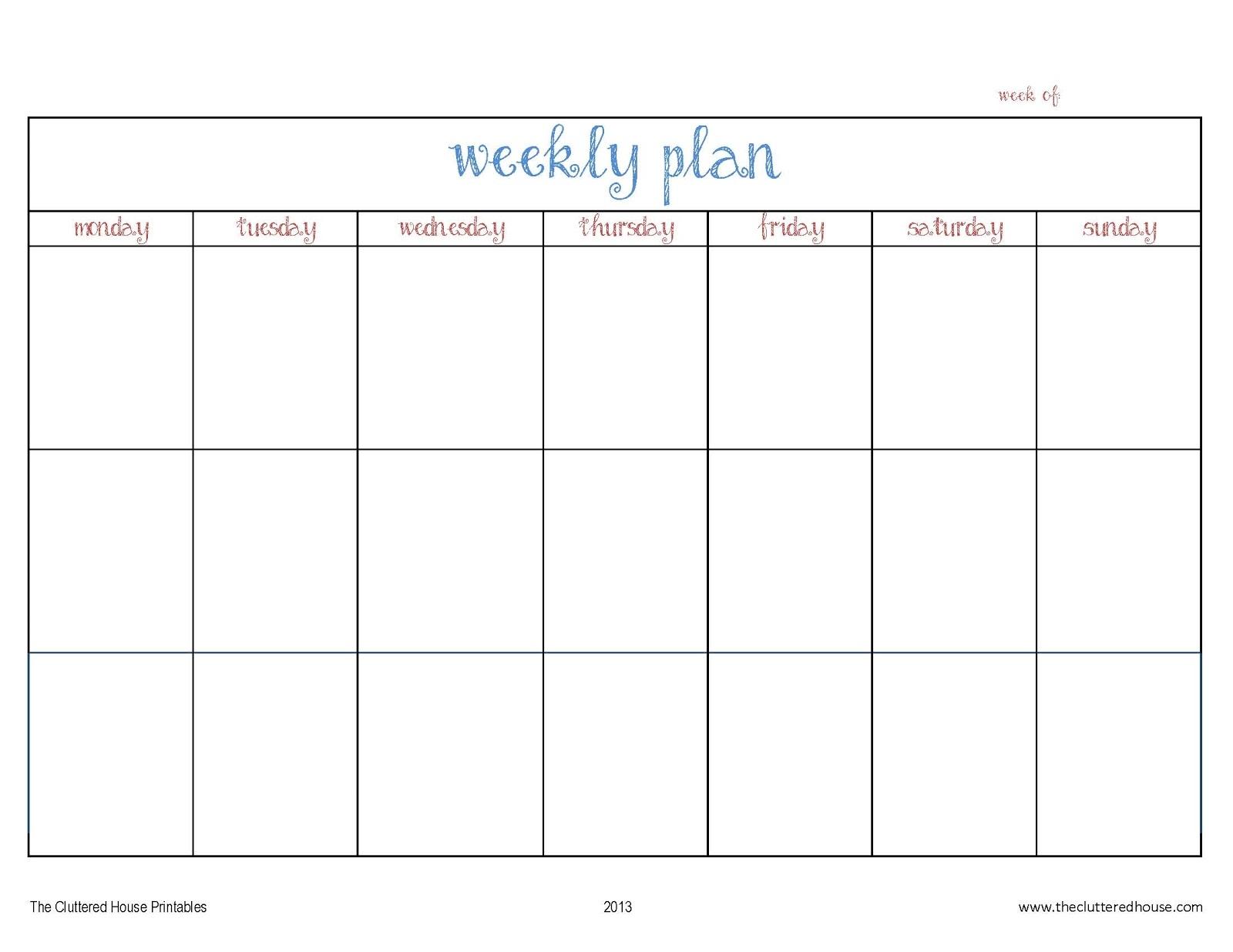 Weekl Calendar Asafonggecco  Xjb