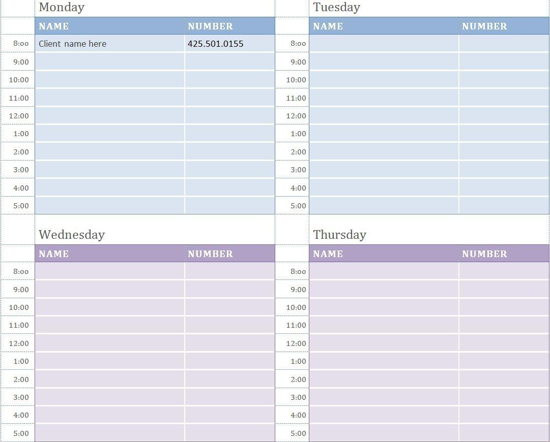 Weekly Appointment Calendar Printable Printable Online Calendar  Xjb