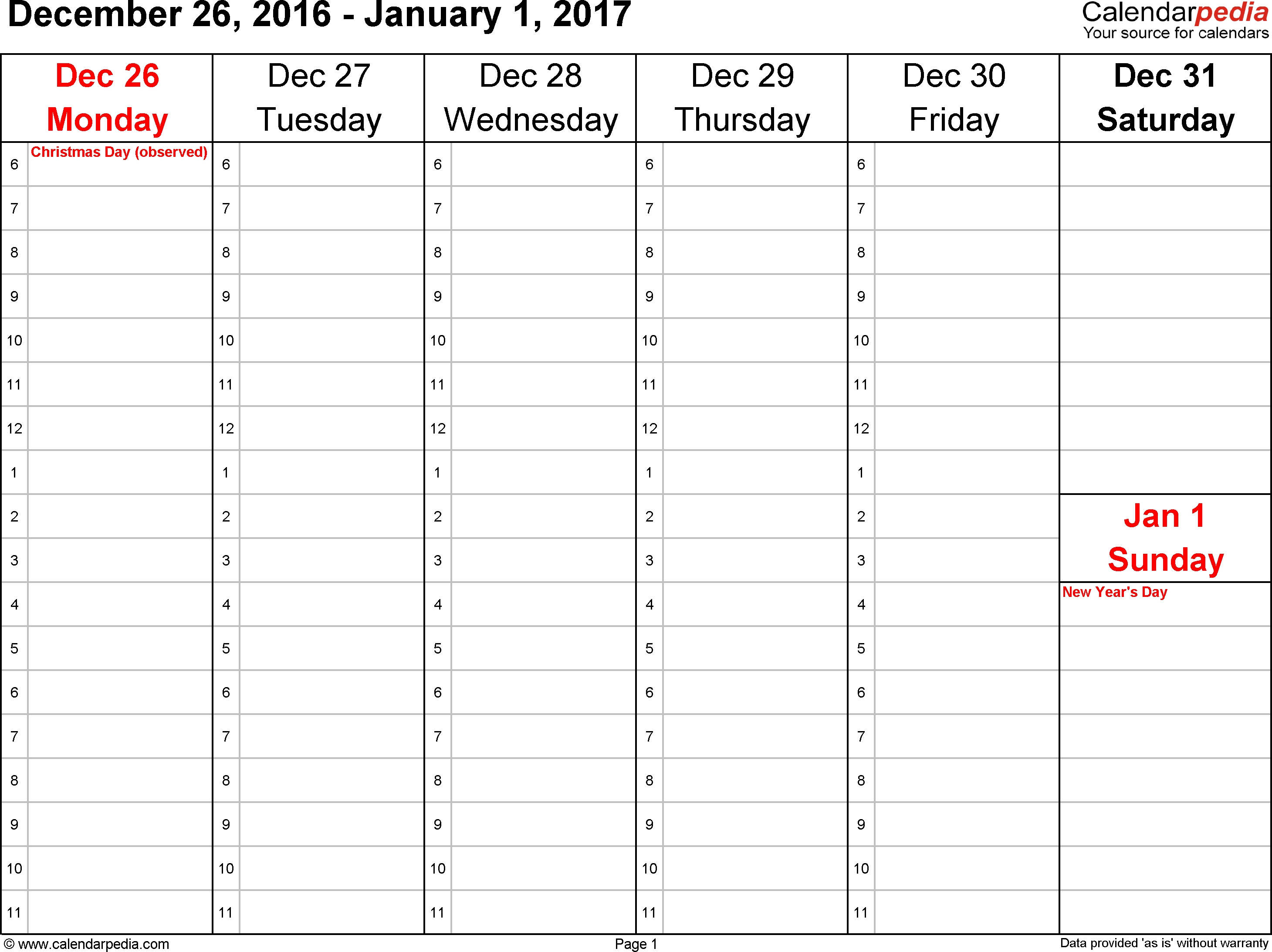 Weekly Calendar 2017 For Word 12 Free Printable Templates  Xjb
