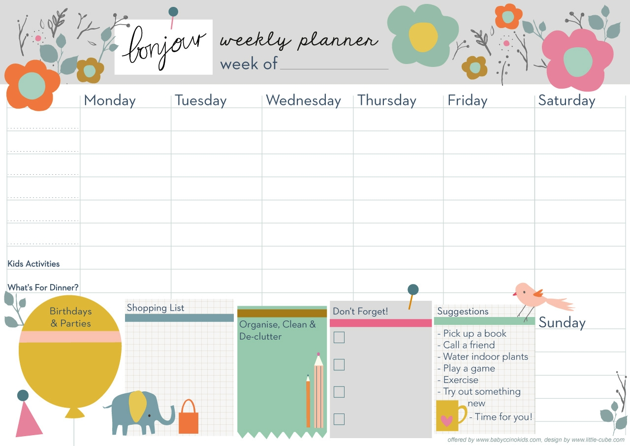 Weekly Planner  Xjb