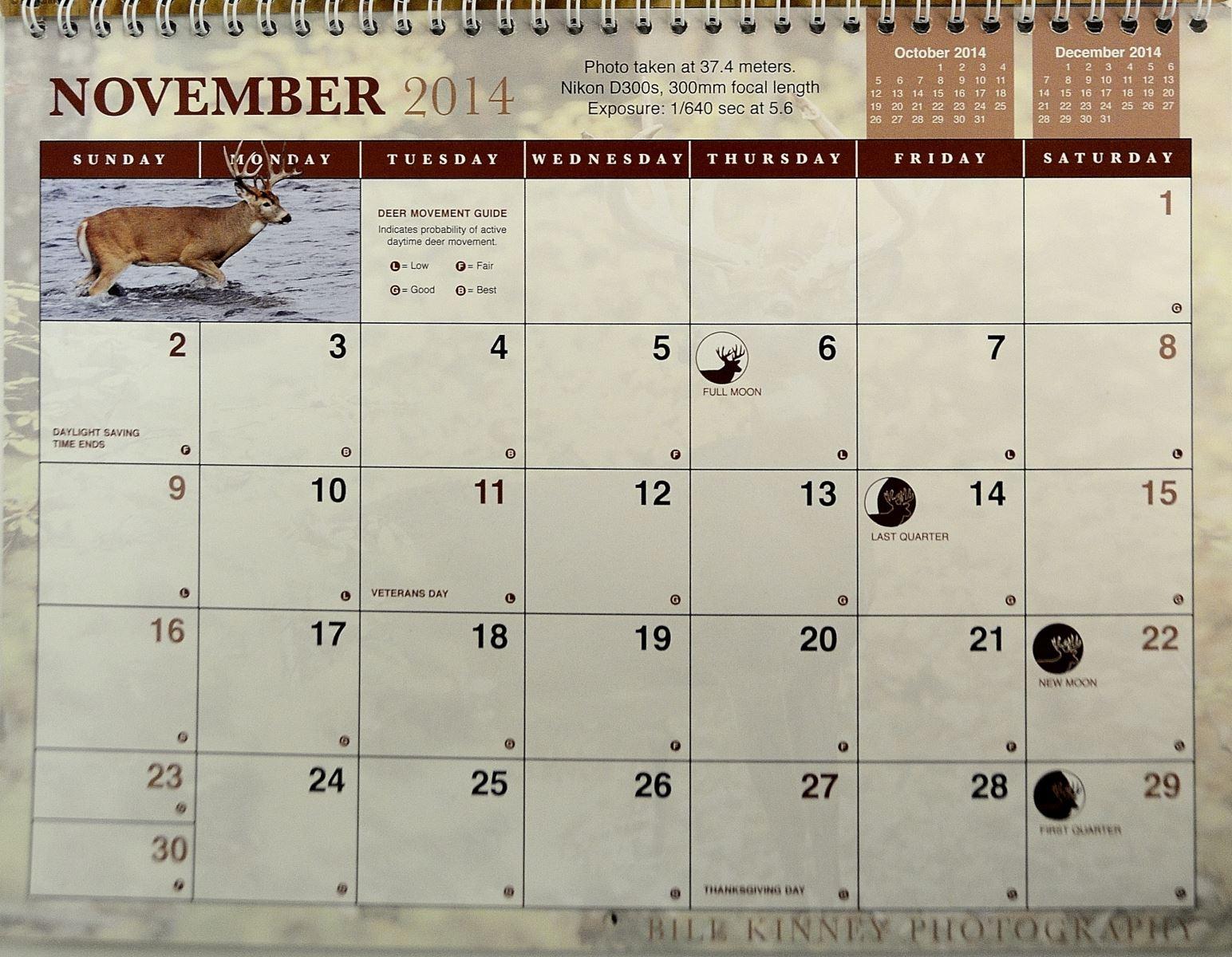 Whitetail Deer Movement Calendar Calendar Template 20183abry