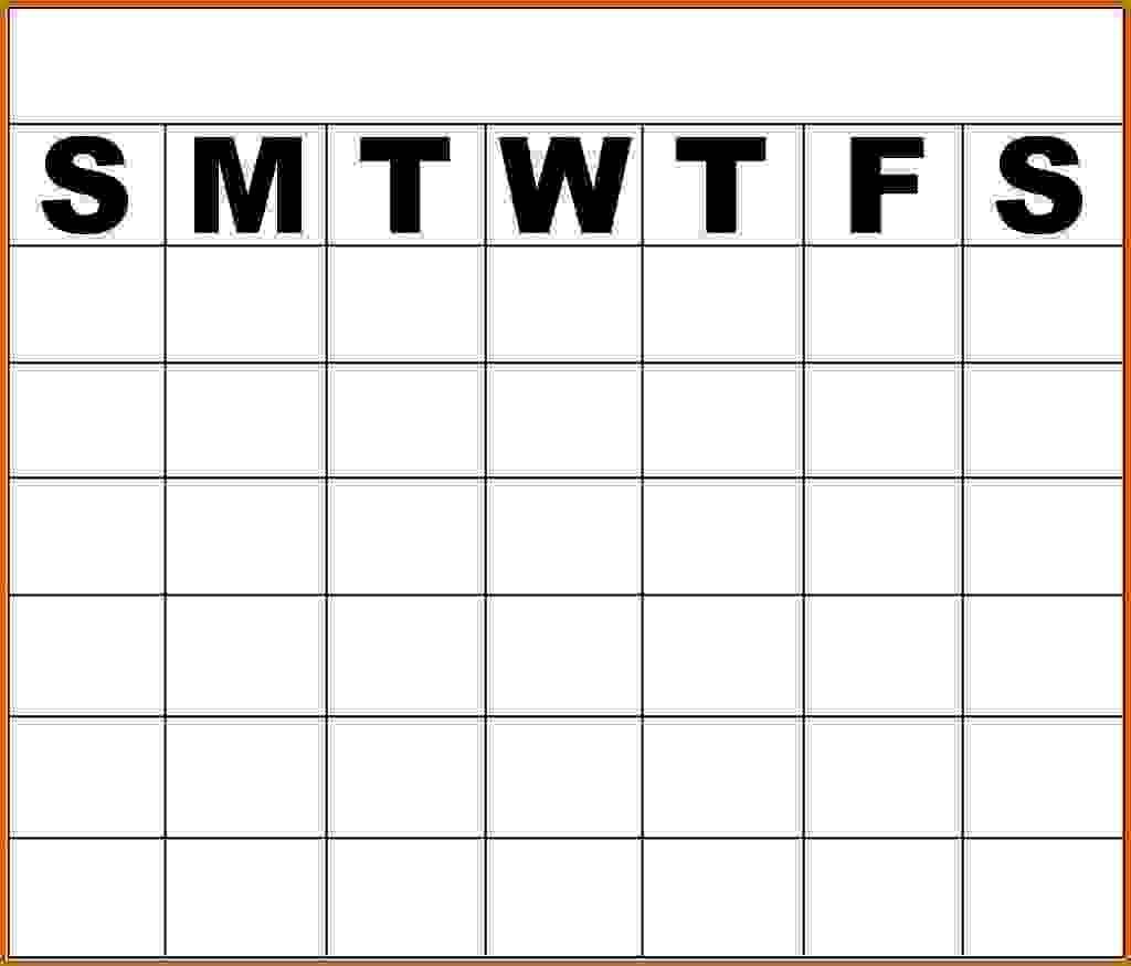11 Monday Through Friday Printable Calendar Lease Template