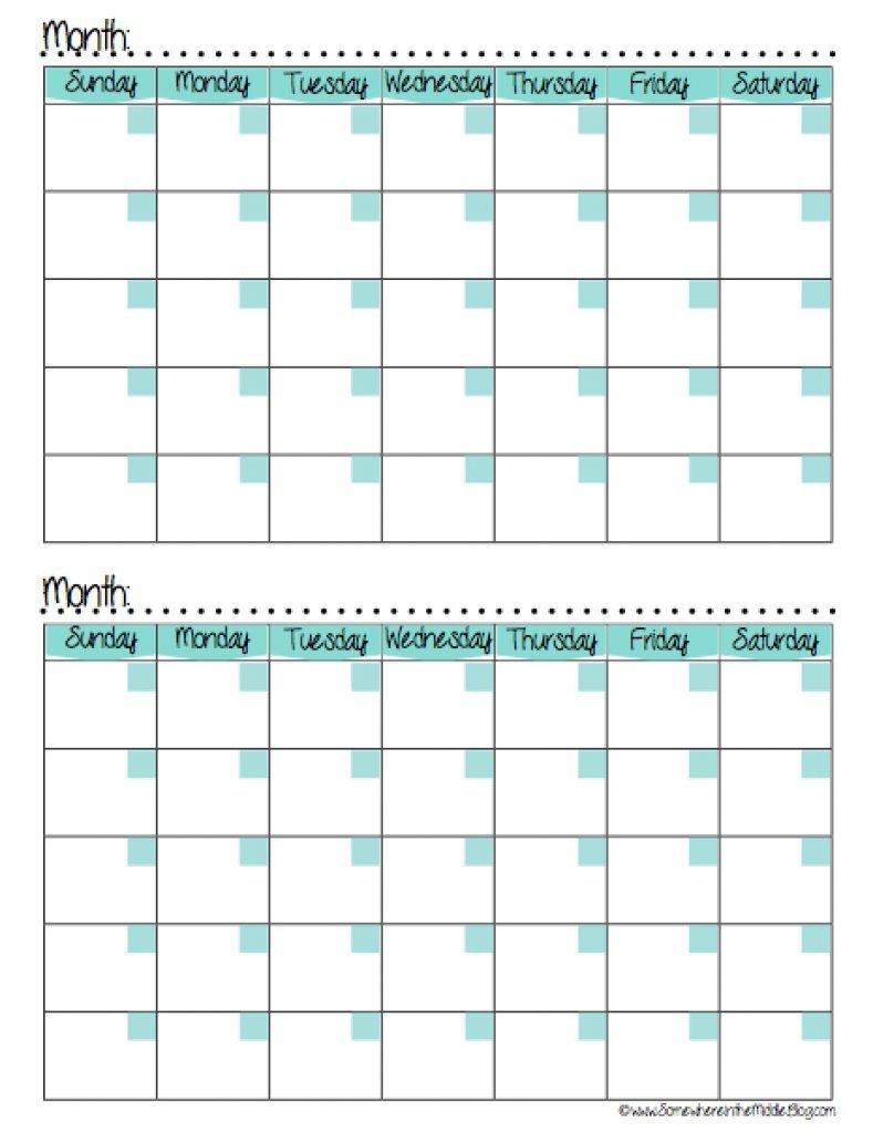 2 Month Calendar Printable Printable Calendar Templates 2018  Xjb