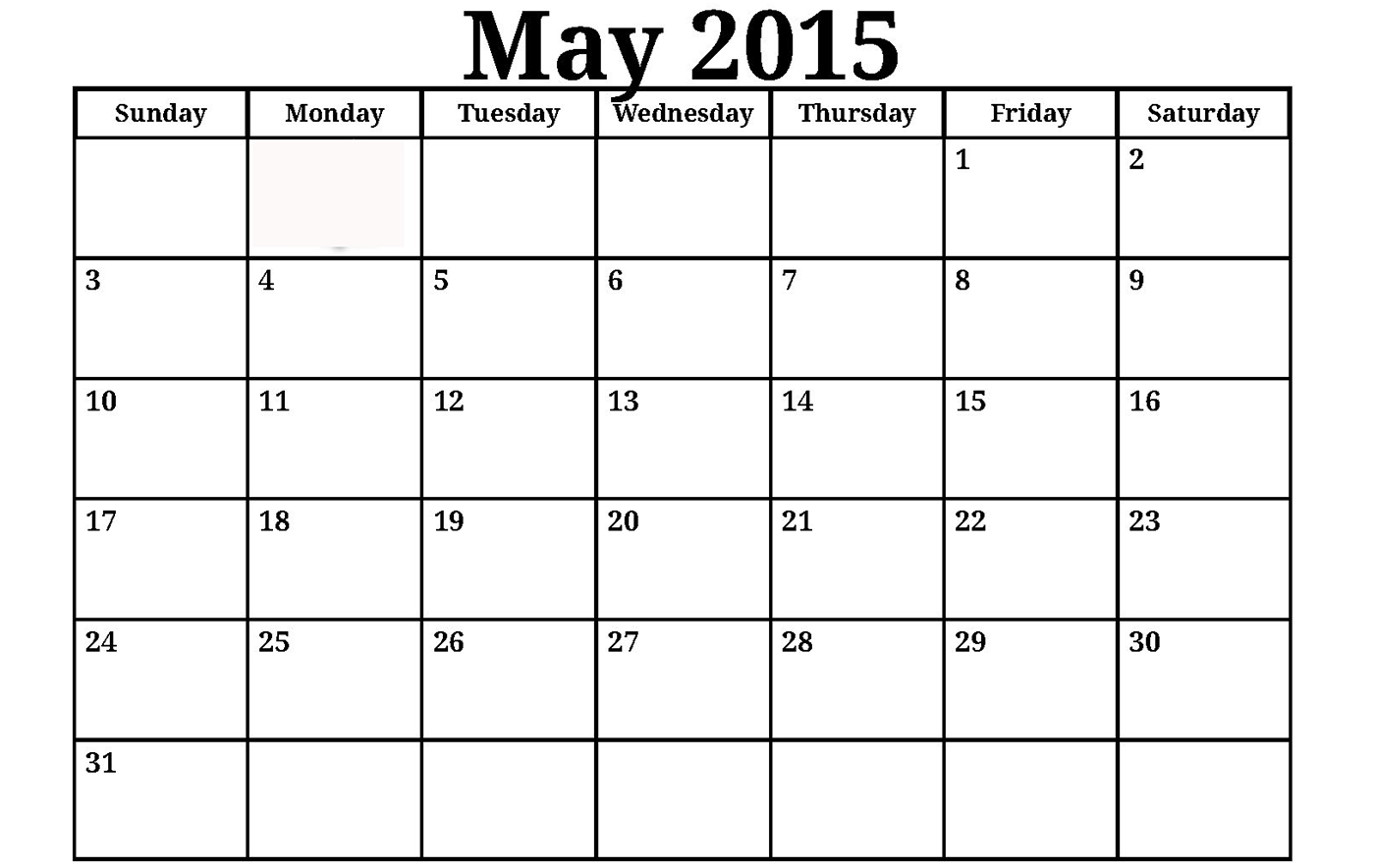 2015 May Calendar Template 3 Calendar Pinterest  Xjb