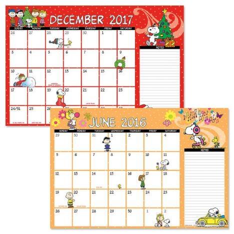 2016 2017 Peanuts Calendar I Love This Calendar Snoopy