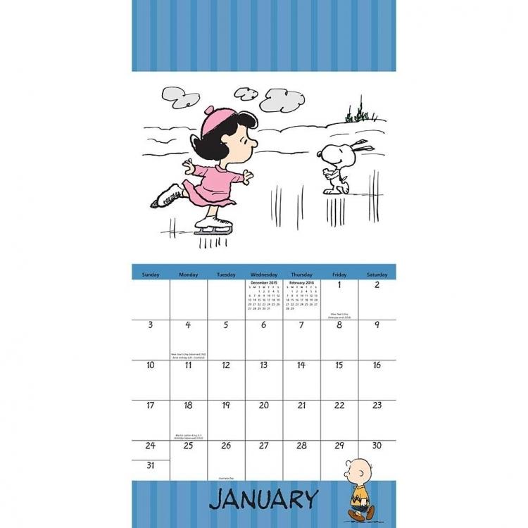 2016 Snoopy Calendars Free Calendar Printable Template