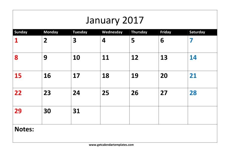 2017 Monthly Calendar Printable Templates Get Calendar Templates
