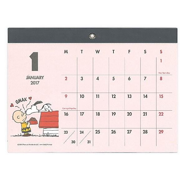 2017 Peanuts Snoopy Magnetic Wall Calendar Plan Japan 2017 Cute