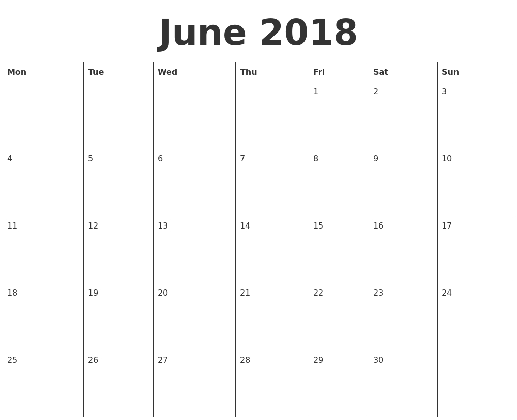 2018 Editable Calendar Template  Xjb