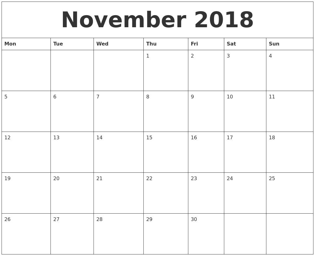 2018 Free Printable Calendar Templates 89uj