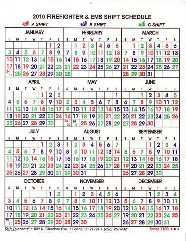 2448 Shift Calendar 2016 Free Calendar Template