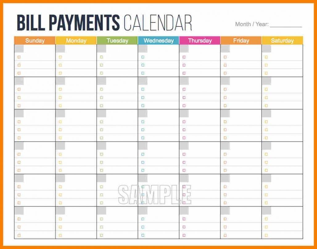 43 Bill Pay Schedule Template Helpful Scholarschair