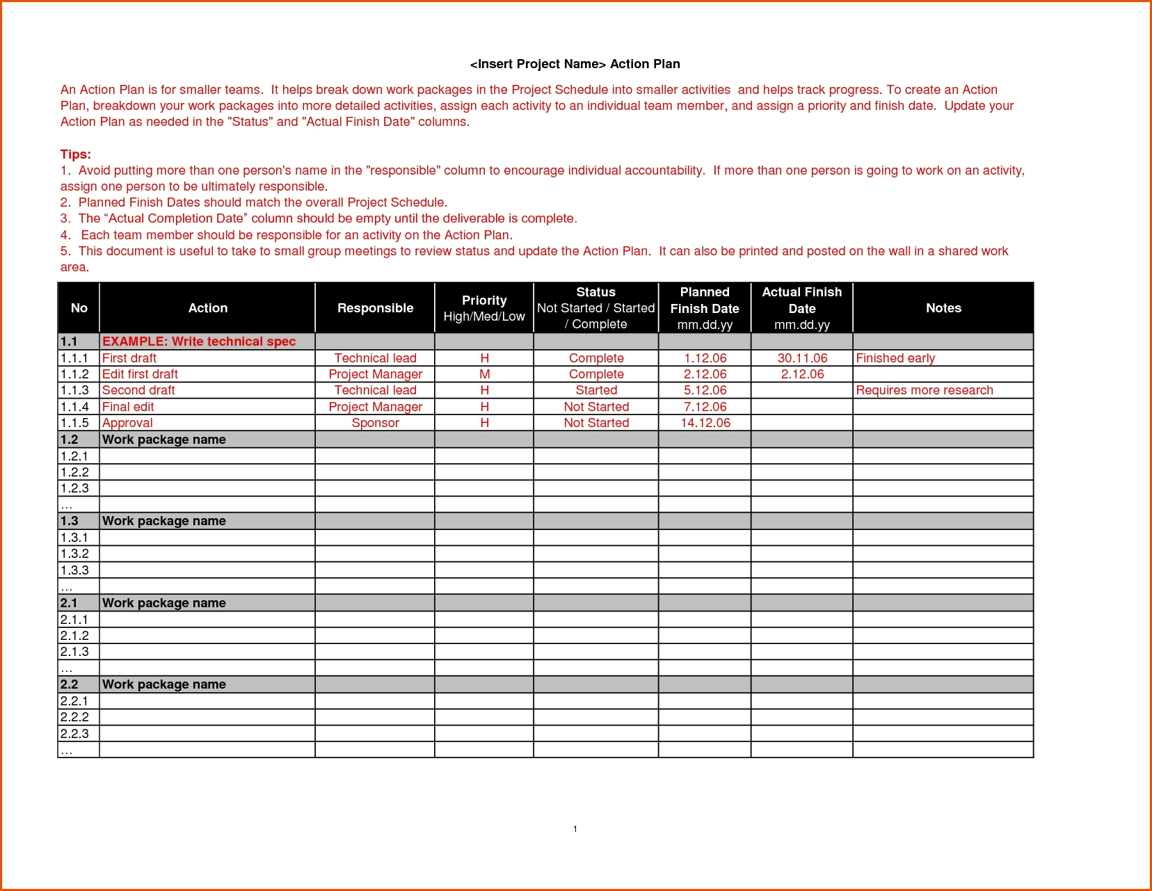 6 Action Plan Template Freememo Templates Word Memo Templates Word