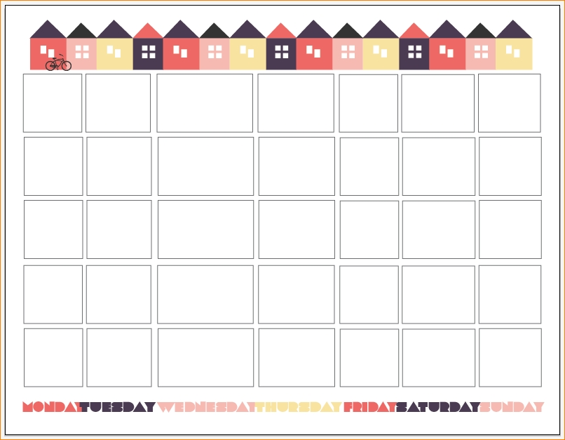 6 Printable Pregnancy Calendar Outline Templates