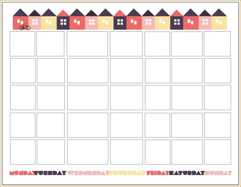 6 Printable Pregnancy Calendar Outline Templates