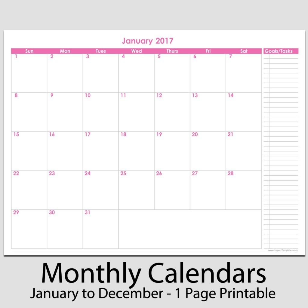 8 X 11 Calendar Printable Printable Calendar Templates 2018