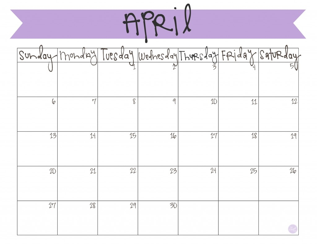 April 2014 Calendar Free Printable April 2014 Calendar Free  Xjb