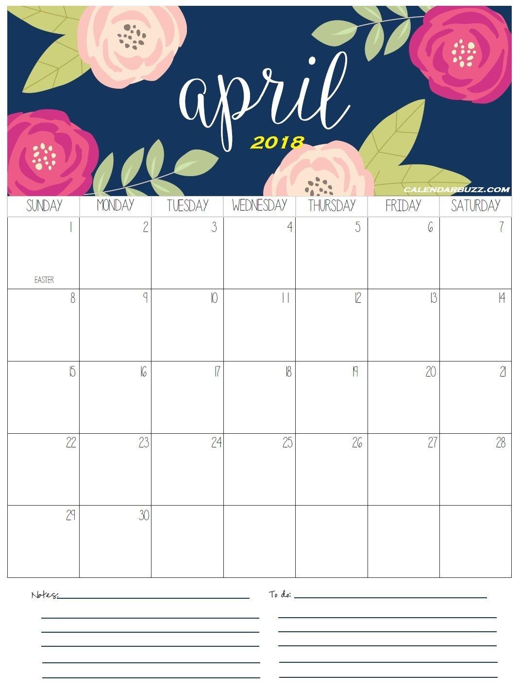 April 2018 Calendar Calendar Pinterest Holiday Calendar  Xjb