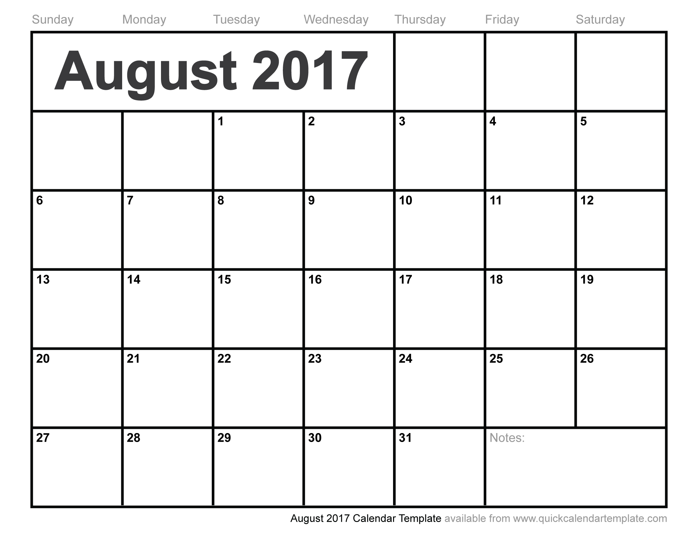 August 2017 Calendar Template3abry