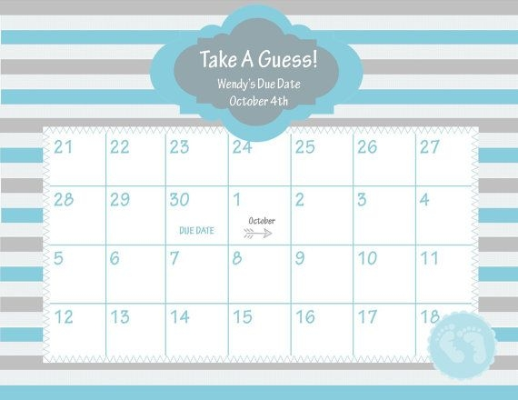 Ba Shower Due Date Calendar Free Calendar Template 2017 Ba