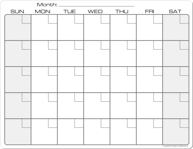 Best Photos Of Plain Calendar 2013 Plain Monthly Calendar