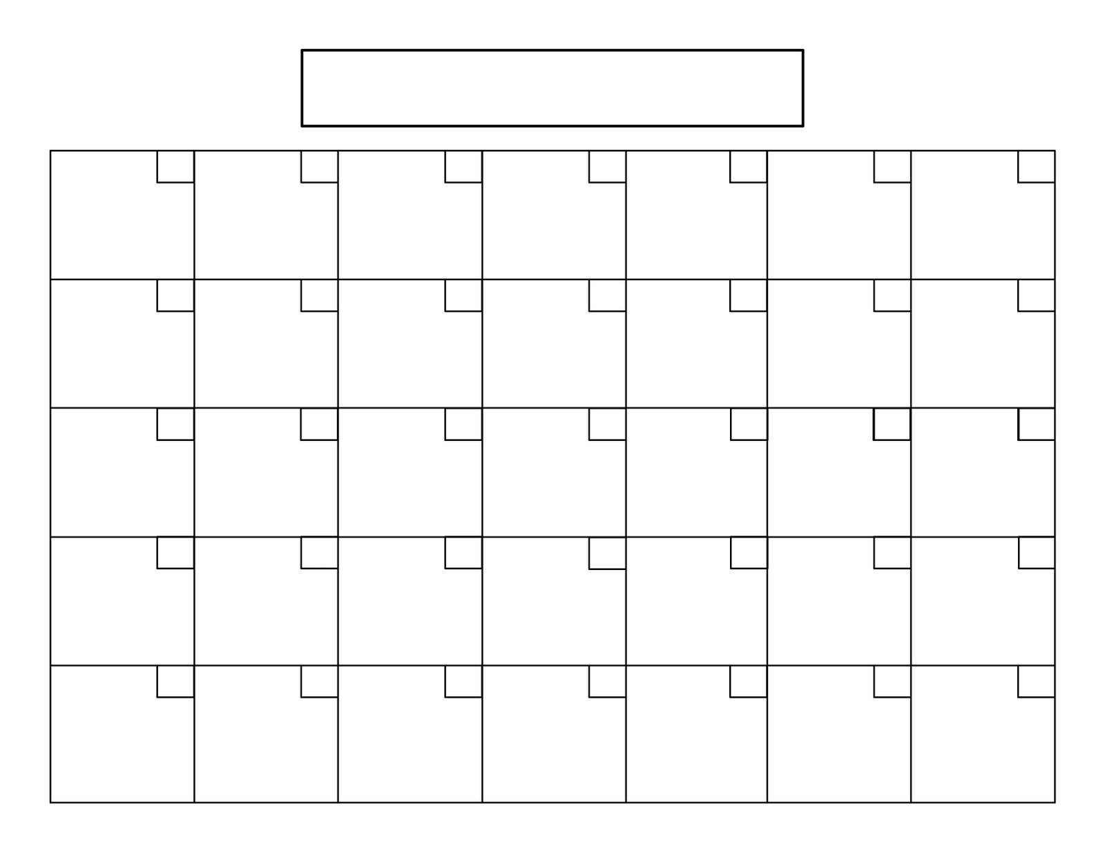 Blank Calendar Pages Blank Calendar Printable  Xjb