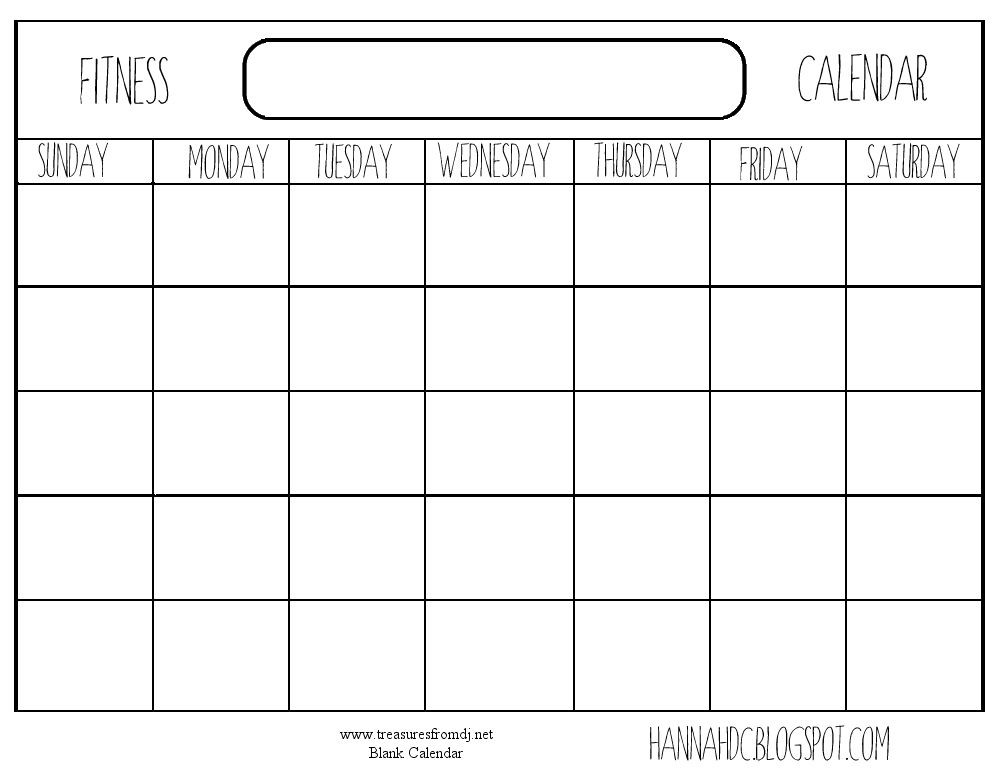 Blank Calendar Print Out Blank Calendars To Print Out Workout