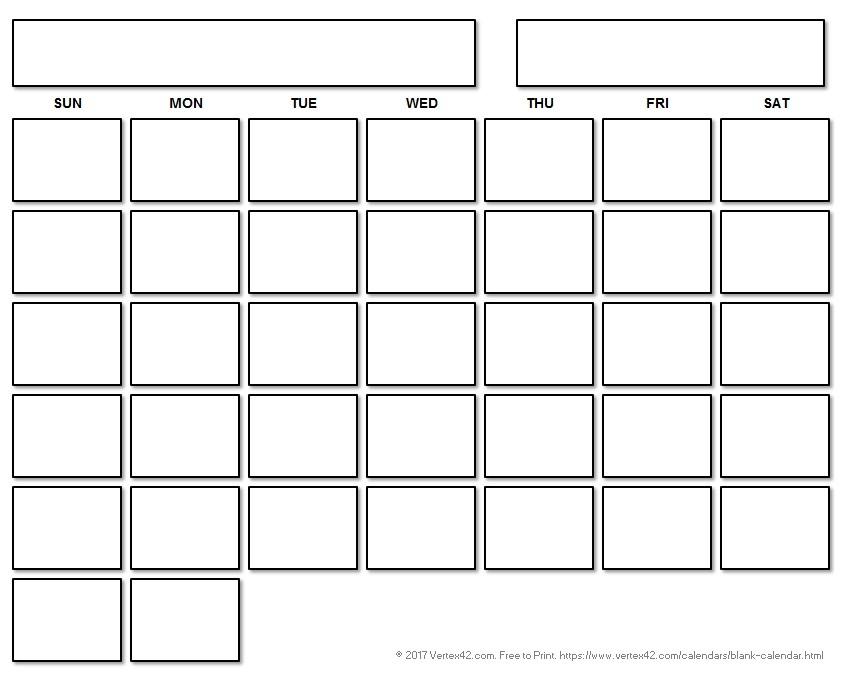 Blank Calendar Template Printable With Printable Calendars 56234