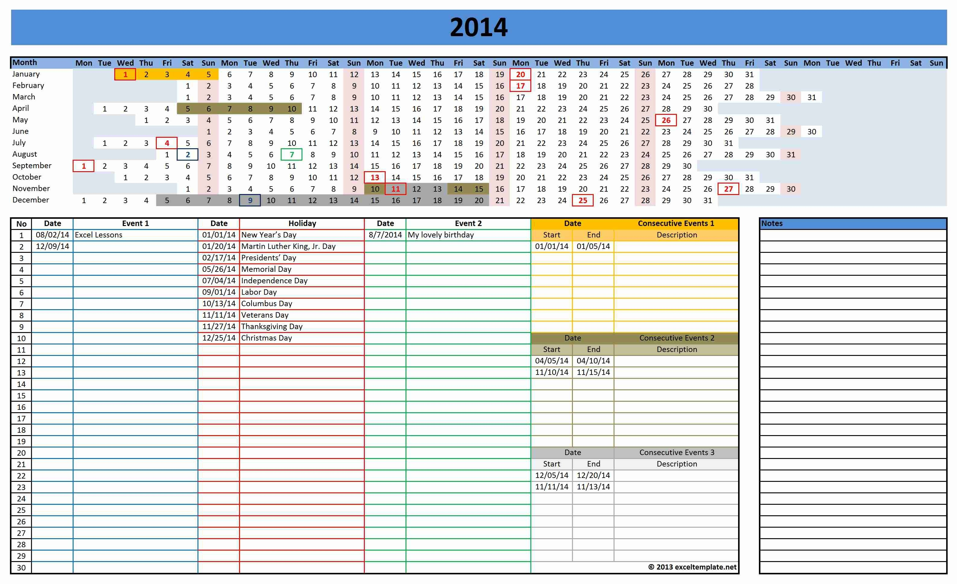 Blank Monthly Calendar Template Excel With Excel Monthly Calendar  Xjb
