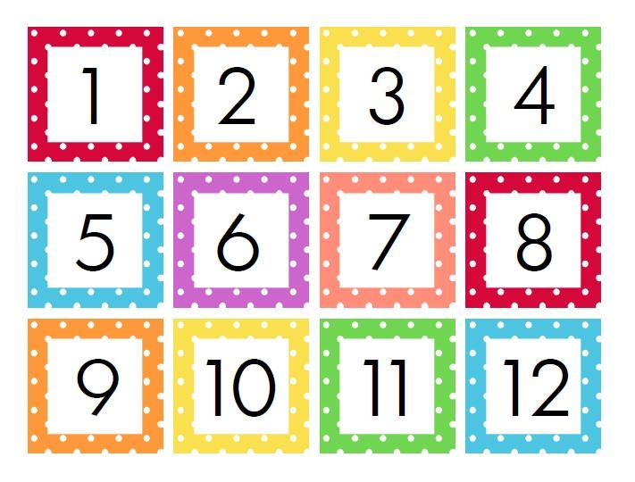 Calendar Numbers Printable Printable Calendar