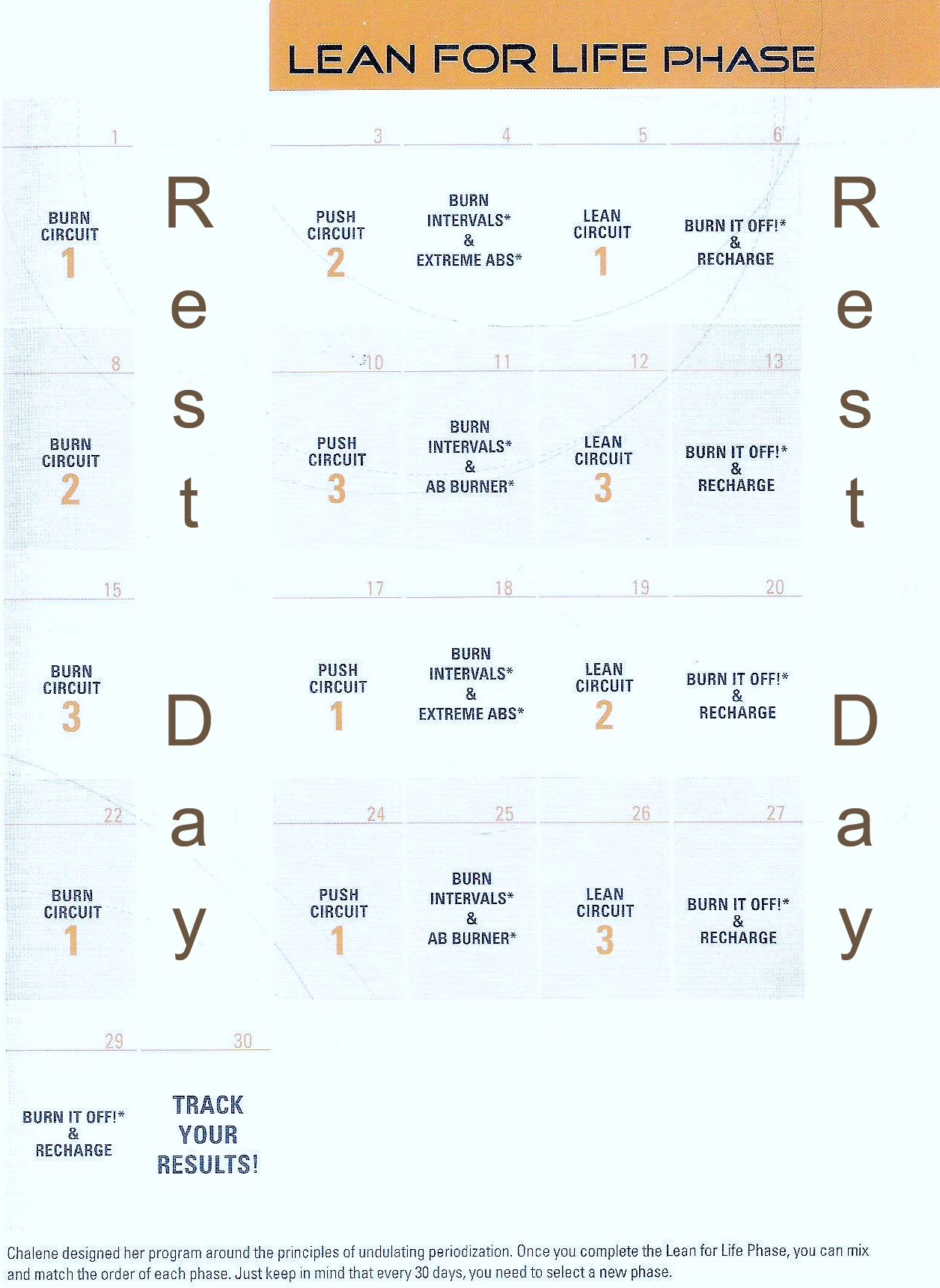 Chalean Extreme Body Makeover Calendars Fitness Pinterest3abry