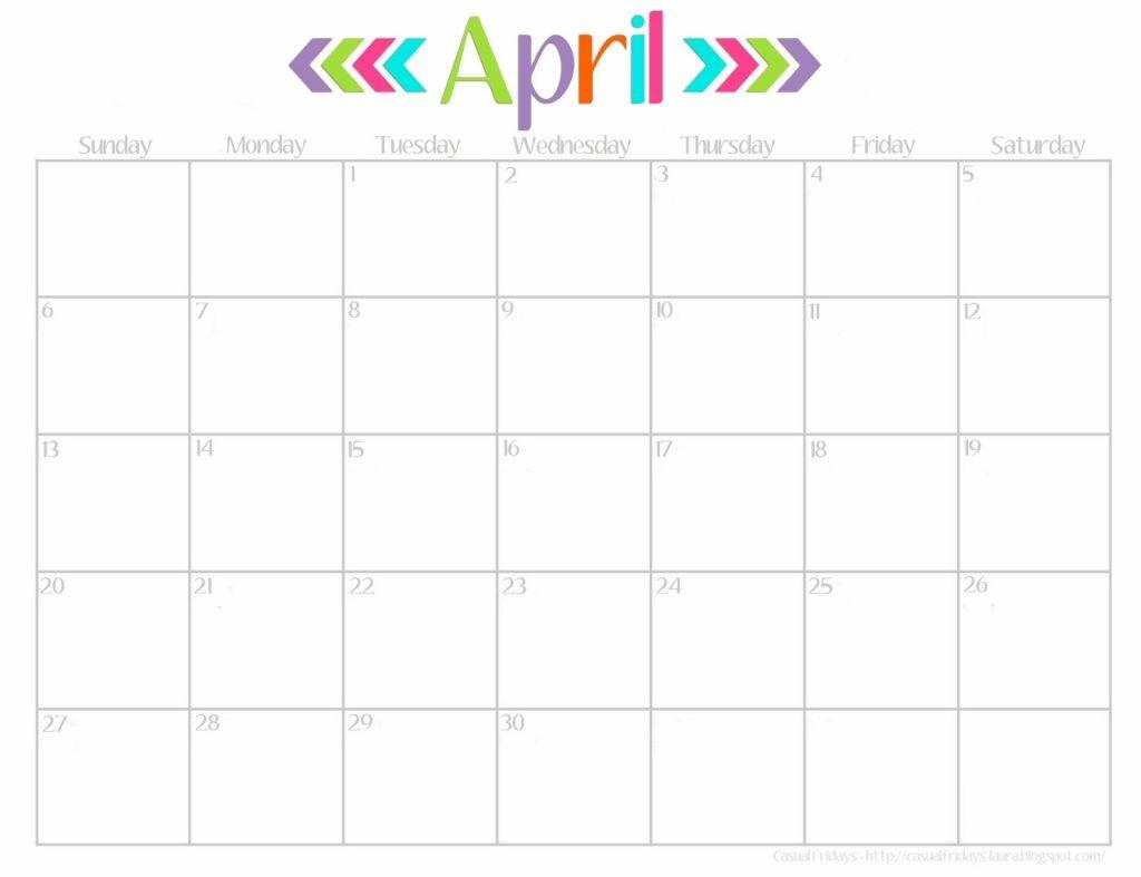 Cute Calendar April Amazing Calendar Printable 2018  Xjb