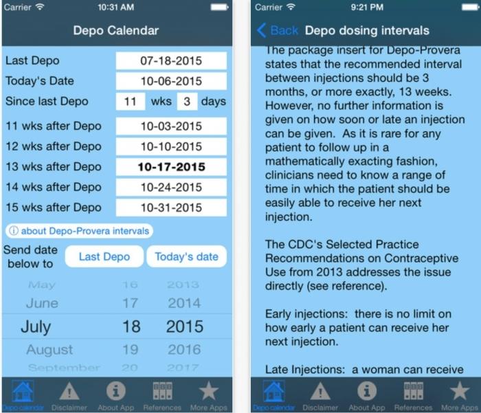Depo Injection Due Date Calendar Calendar Printable 2018