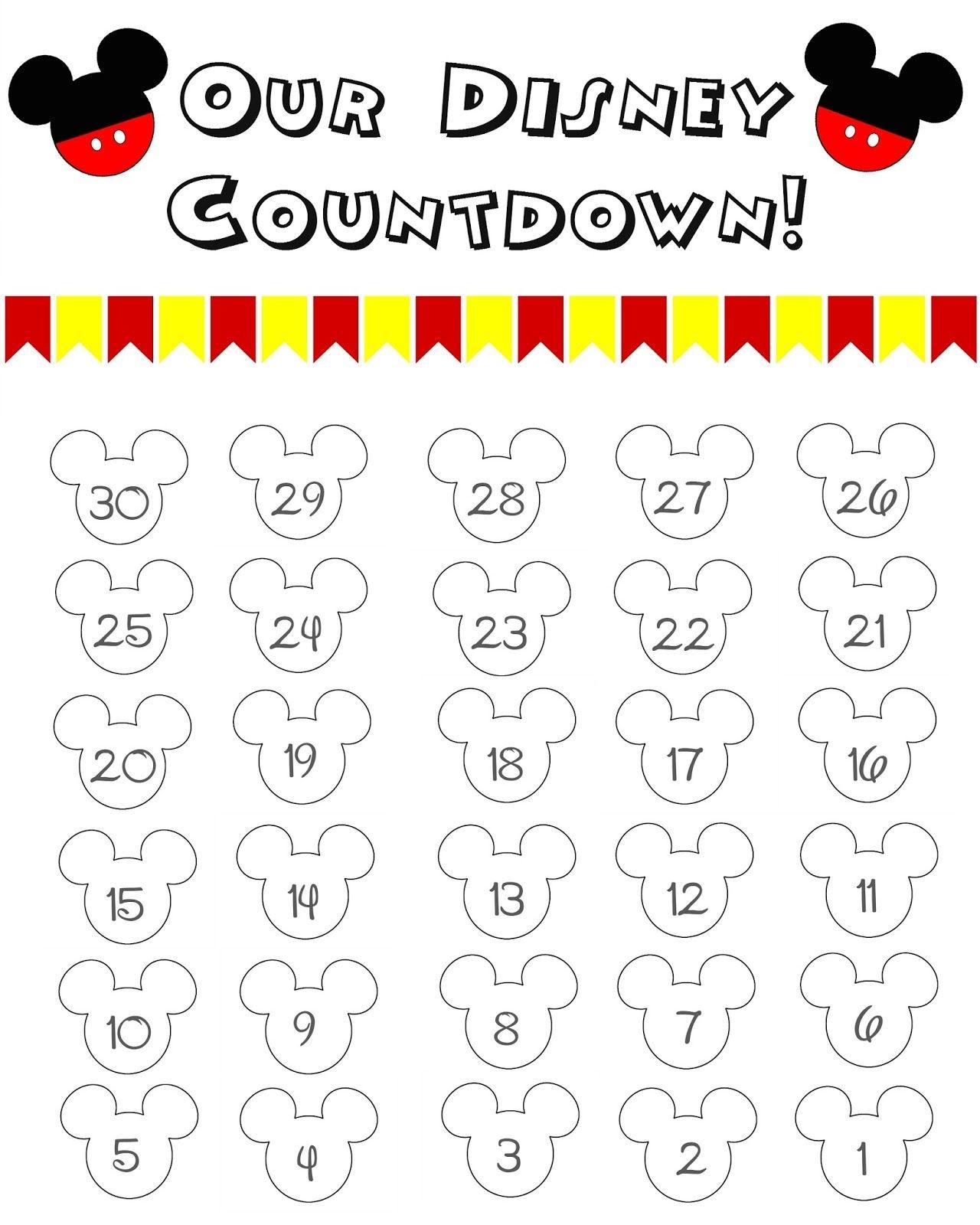 Disney World Countdown Calendar Free Printable Disney  Xjb