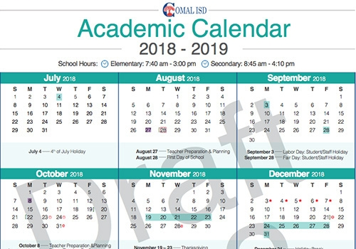 District Proposes Calendar 2a To School Board Valley Ventana