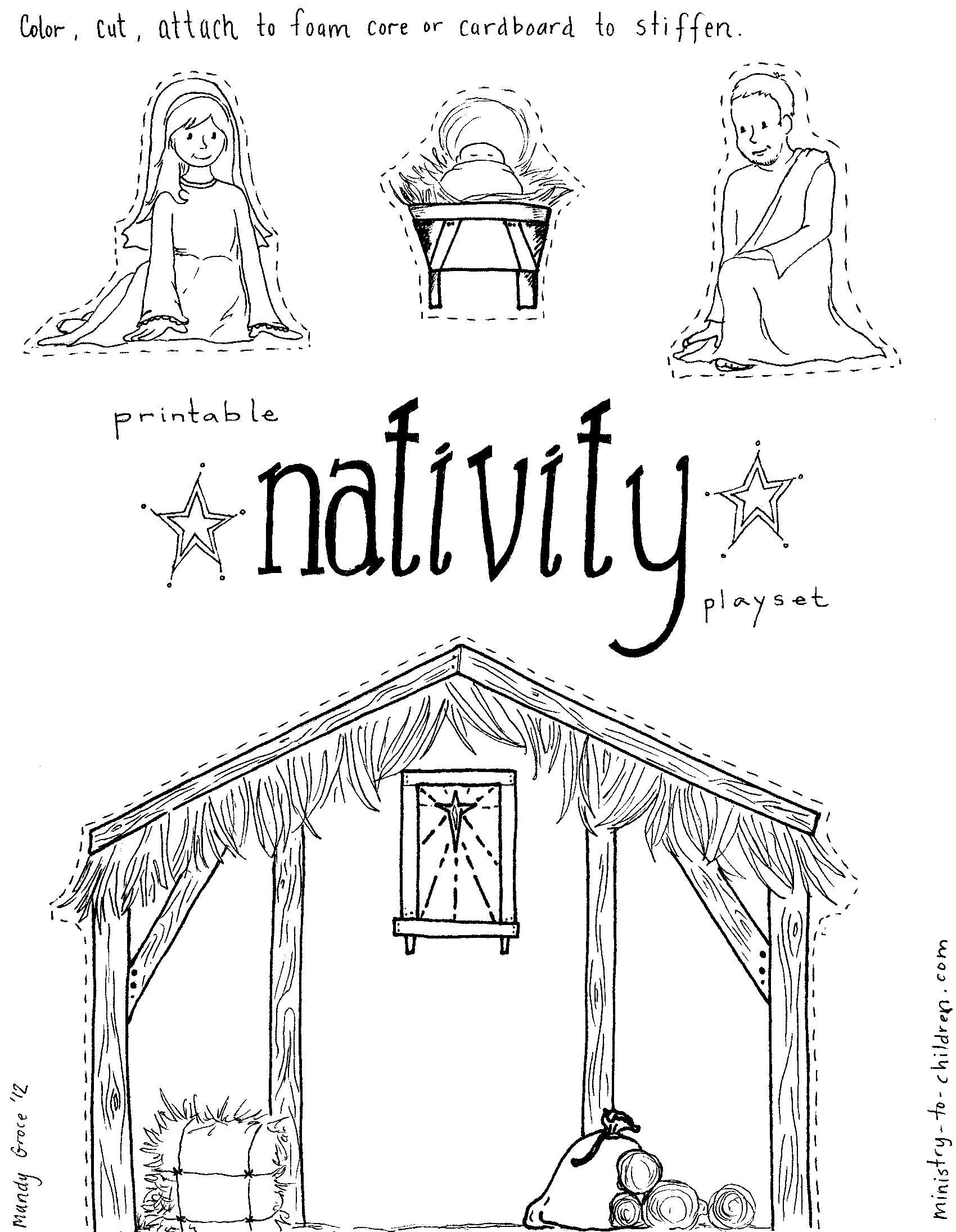 Diy Nativity Churchsunday School Ideas Pinterest Sunday School3abry
