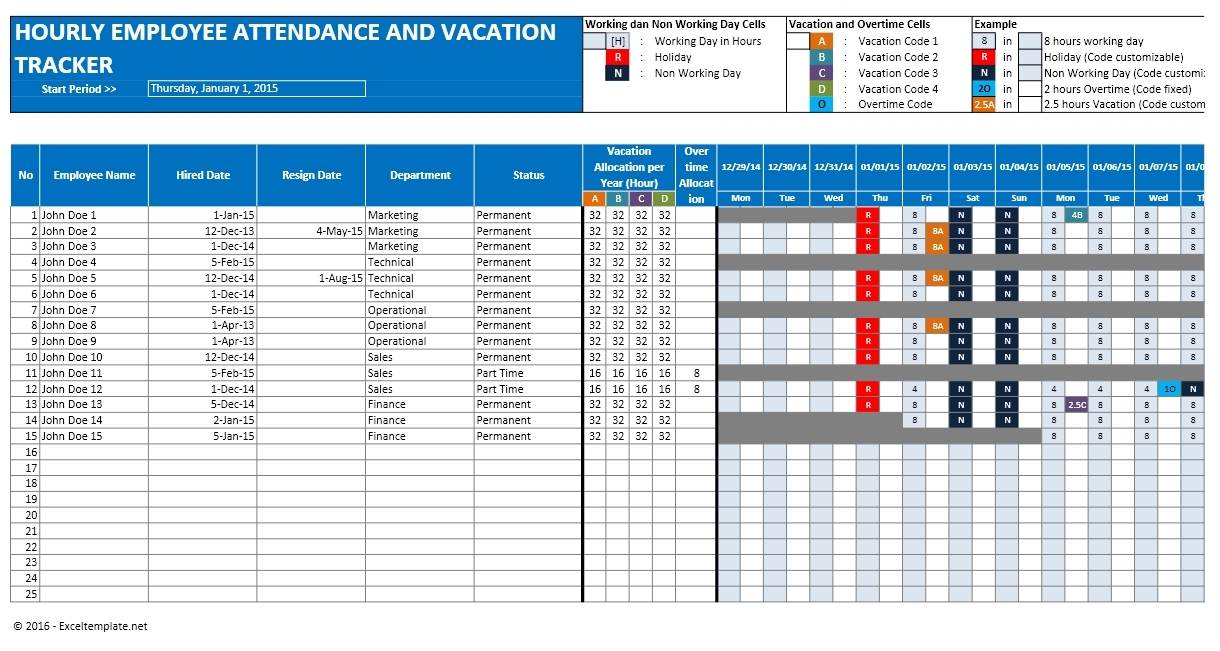 Excel Spreadsheet For Vacation Tracking Onlyagame 89uj