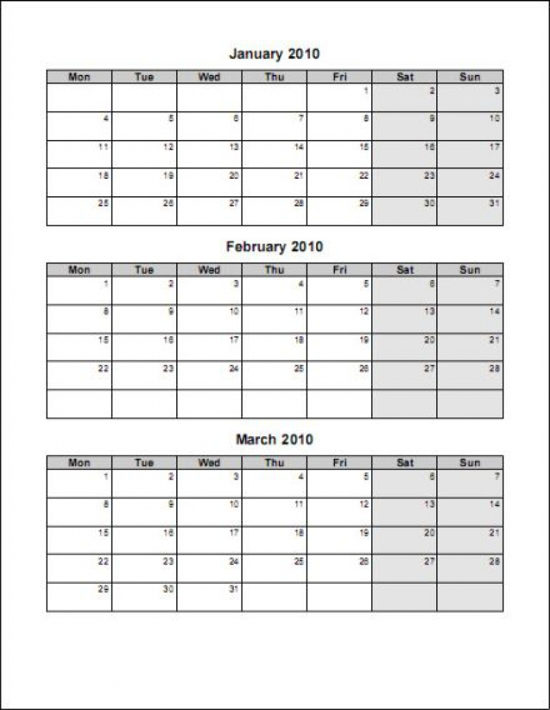 Free Printable 3 Month Calendar Printable Online Calendar  Xjb